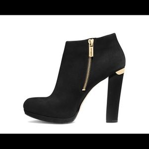 MICHAEL Michael Kors Black Haven Suede Ankle Boot
